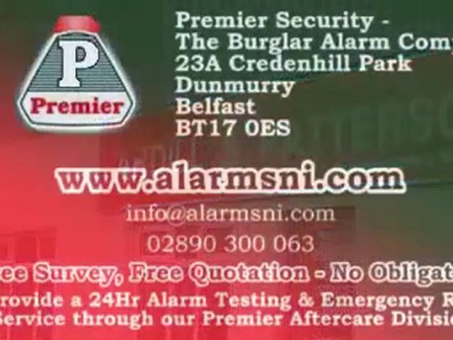 Burglar Alarm Systems Belfast – Premier Security Systems
