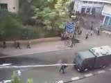 Manif égypte karcher vs manifestant ! Révolte Egypte ! 25/01