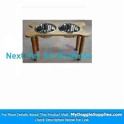 2 Bowl Bone Shaped Pet Diner Size  X-Small  Finish  Natura