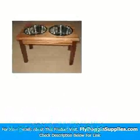 2-Bowl Traditional Style Pet Diner in Mahogany Size  Mediu