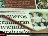 Presidente Chávez satisfecho con respaldo de la banca a plan de viviendas