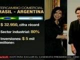 Cristina Fernández recibe a Dilma Rousseff
