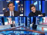 Jamel fait son clown au JT de 20 h de France2 (31/01/2011)