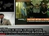 Dilma Rousseff y Cristina Fernández, reunidas en Argentina