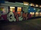 graff sur un train corail