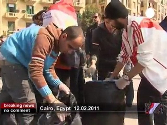 Cleaning up Tahrir Square - no comment