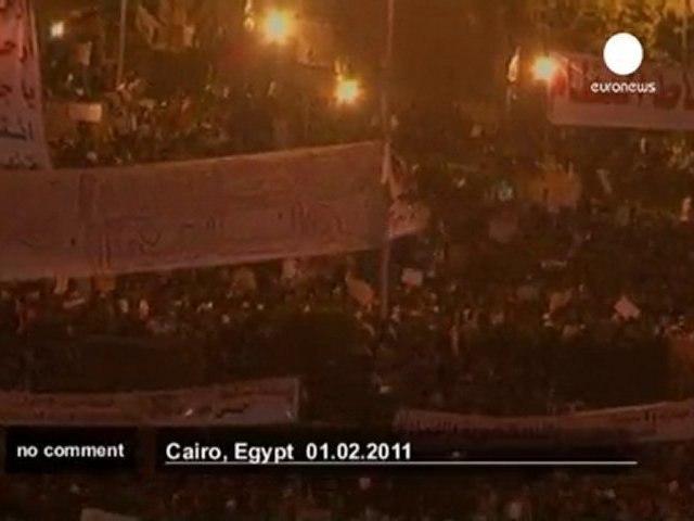 A million march in anti-Mubarak protest - no comment
