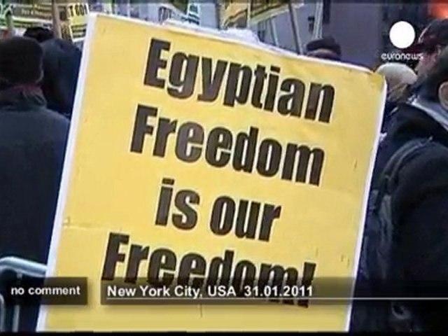 Manifestation à New York contre Moubarak - no comment