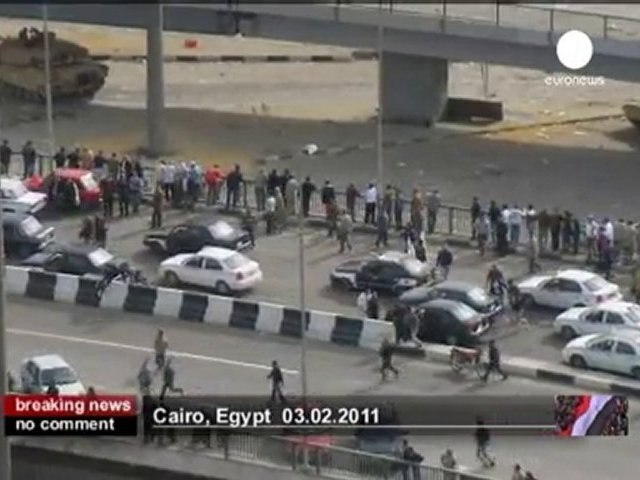 Clashes in chaotic Cairo - no comment