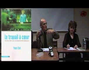 """Débat autour du livre d'Yves Clot """"Le travail à coeur"""""""