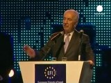 "Peres ""warns"" of dangers of Egyptian democracy"