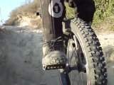 Mountain Unicycling at Aliso Woods (With Cable-cam!)