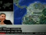 Colombia avanza hacia la pacificación: Piedad Córdoba