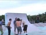 Skateboarder Pat McClain at Kona
