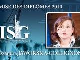 Remise des diplômes ISG promo 2010 - Major du Cycle ISG MBA Spécialisé