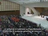 Benedict al XVI-lea: Cristos este în centru