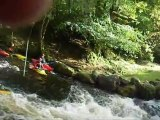Rafting on The river tryweryn