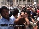 Echauffourées entre manifestants aux yemen - no comment