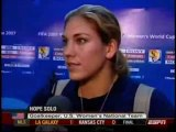 HOPE SOLO MAD OVER US WOMENS WORLD CUP LOSS