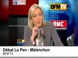Présidentielle 2012 : le résumé du débat Mélenchon - Le Pen