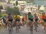 Tour de France 2003 - Armstrong attacks Ullrich after Fall