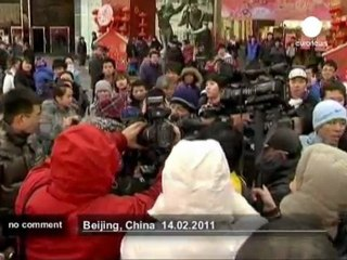 Chinese homosexuals demonstrate on... - no comment