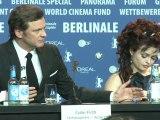 C. Firth et H. Bonham-Carter à Berlin avant les Oscars