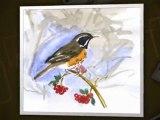 Peintures, aquarelles des oiseaux du Périgord vert.