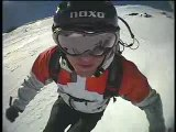Ski freeriding and some trippy helmet cam footy