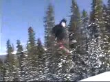 this guy has fun on the snow