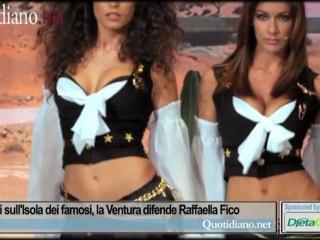 Naufraghi sull'Isola dei famosi, la Ventura difende Raffaella Fico