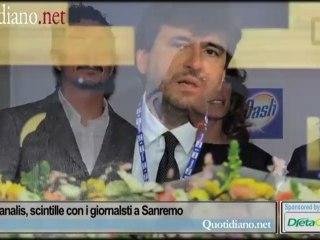 Belen e Canalis, scintille con i giornalsti a Sanremo