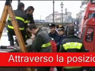 Ricerche del disperso in Arno, Firenze, febbraio 2011