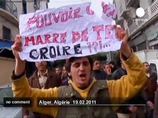 Demonstration in Algiers - no comment
