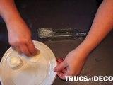 Peinture martelée en peinture sur verre par TrucsetDeco.com