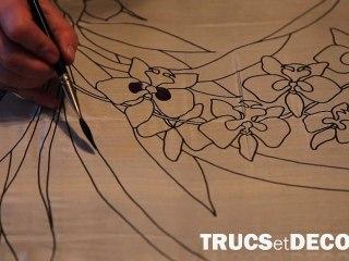 Technique pour peindre sur soie par TrucsetDeco.com