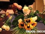 Faire une composition florale, une gerbe de fleurs par TrucsetDeco.com