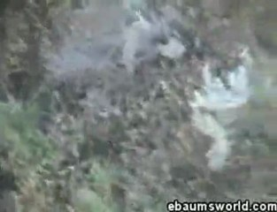 huge road gap, nasty landing