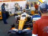 "F1 Renault R26 singing ""La Marseillaise"""