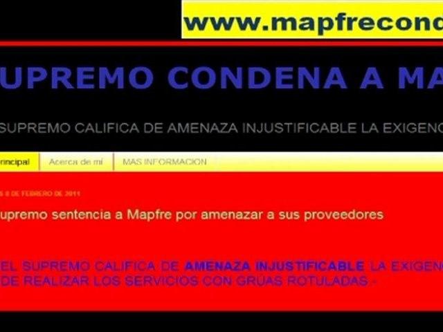 por amenazas www.supremoCondenaMapfre.com