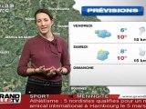 Les Prévisions Météo du 24 février 2011 (Lille)