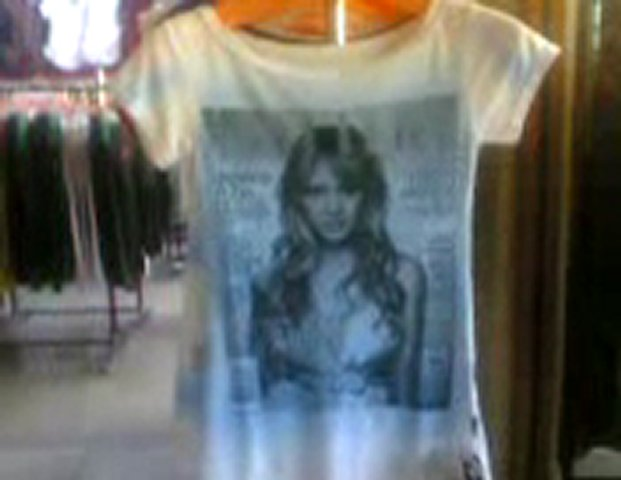 Nice women t-shirt in a store