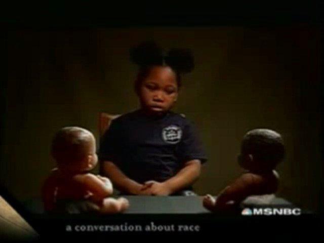 Le test de la poupée blanche et de la poupée noire