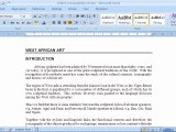 Indenting Paragraphs in Microsoft Word 2007