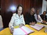S Royal et V Lurel signent deux conventions de partenariat