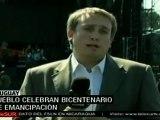Inician en Uruguay los festejos del bicentenario