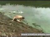 bmx lake jump fail