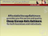 Cheap Storage Units Baltimore: Secure And Affordable