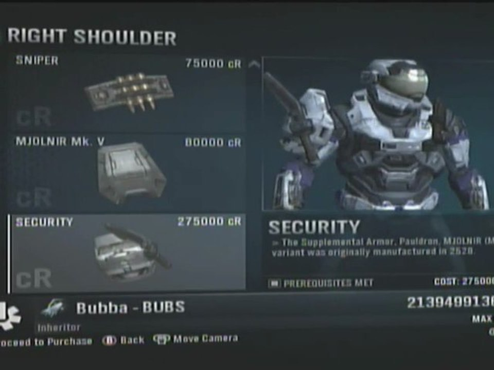 Complete halo reach armory and all armor effects