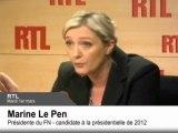 Révoltes arabes : Marine Le Pen veut repousser les migrants